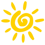 NCMHR National Coalition for Mental Health Recovery logo - yellow sunshne